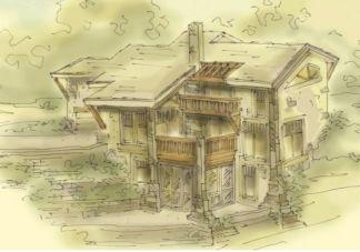 Mountain home design
