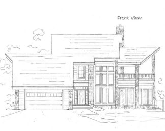 Timber frame house plan