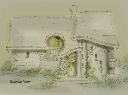 turret house plan