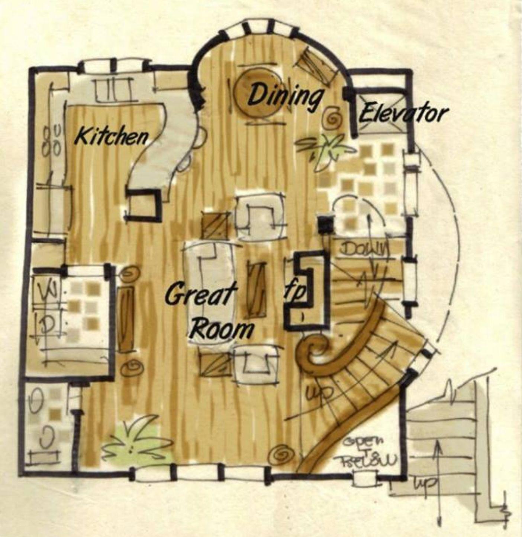 Hobbit house plan Unique house plans exclusive collection – Hobbit House Floor Plans