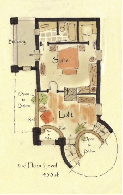 Tiny castle house plan, Unique house