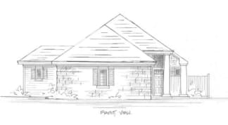 Conventional house plan