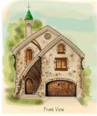european house plan