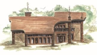 earth berm house plan