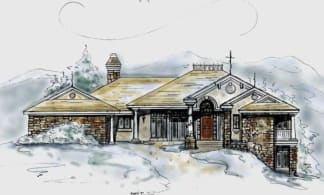 Lower level house plan