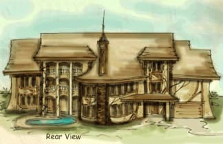 old world house plan