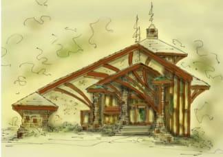 Rustic house plan