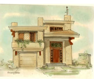 Abstract house plan