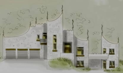 modern castle house plan