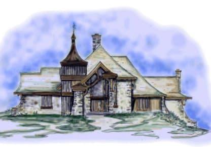 Chalet house plan
