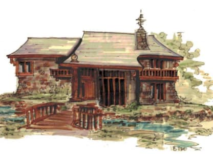 Mountain house plan