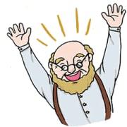 Smiling bald-headed man