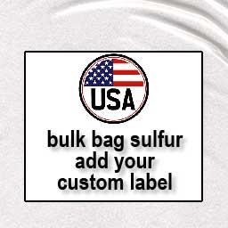 Unlabeled bags organic sulfur