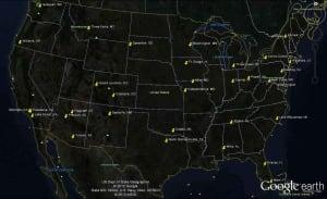 Map of U.S. organic sulfur customers