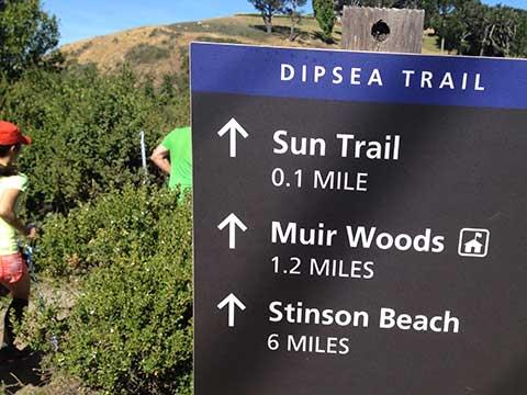 Dipsea Trail Sign