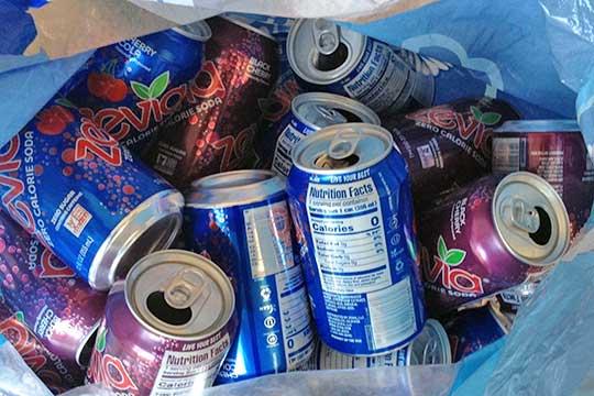 Bag of aluminum cans