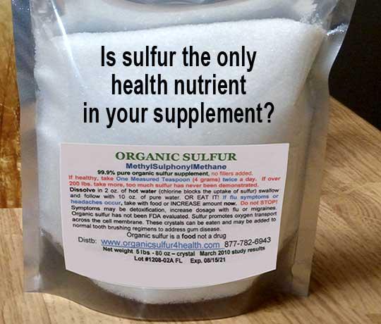 Organic Sulfur Mylar Bag