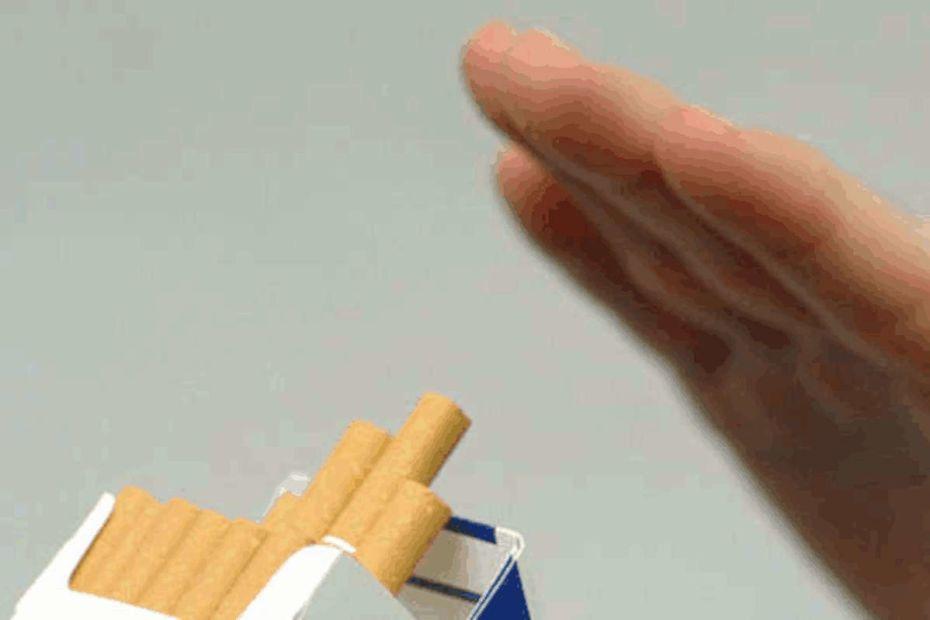 Para parar de fumar, não use nada - destacada.
