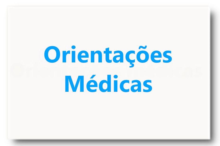 Orientações Médicas - padrão destacado