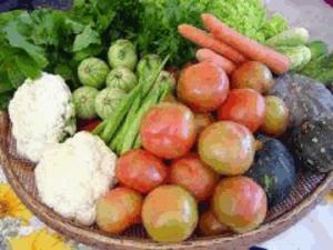 Tabela de calorias de legumes, verduras e saladas