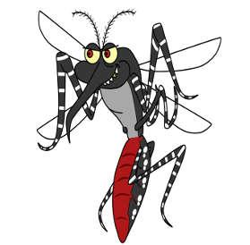 mosquito da dengue aedes aegypti ilustração