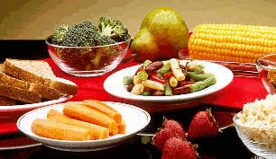 frutas, verduras e cereais