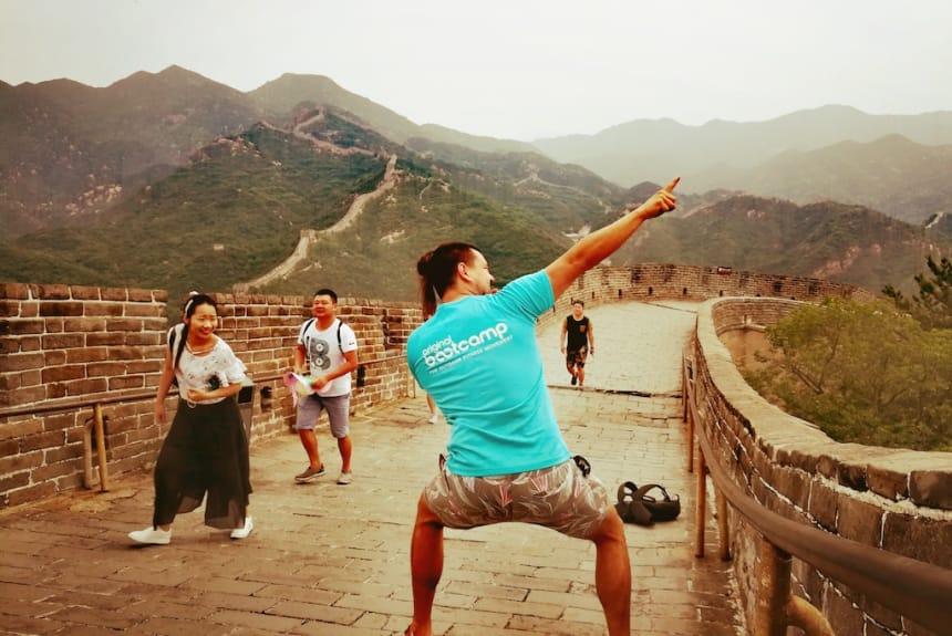 Sammie an der Chinesischen Mauer