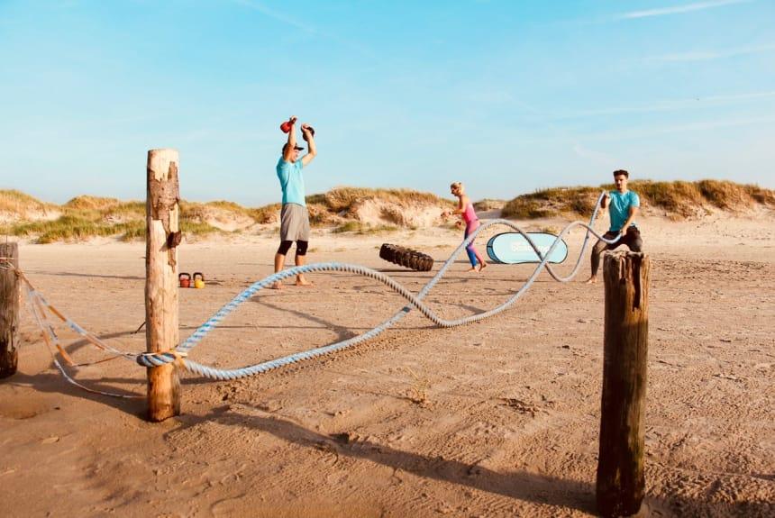 Wilde Seile am Strand