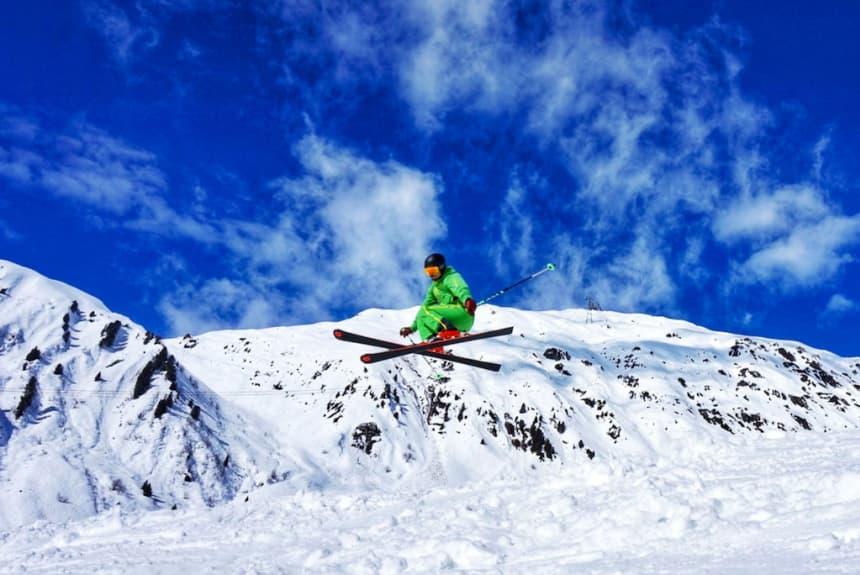Jurij Störzel beim Ski fahren