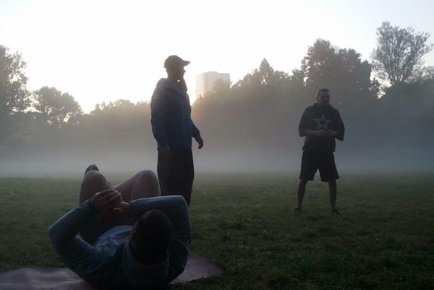 Helge Thorn beim Outdoor Training