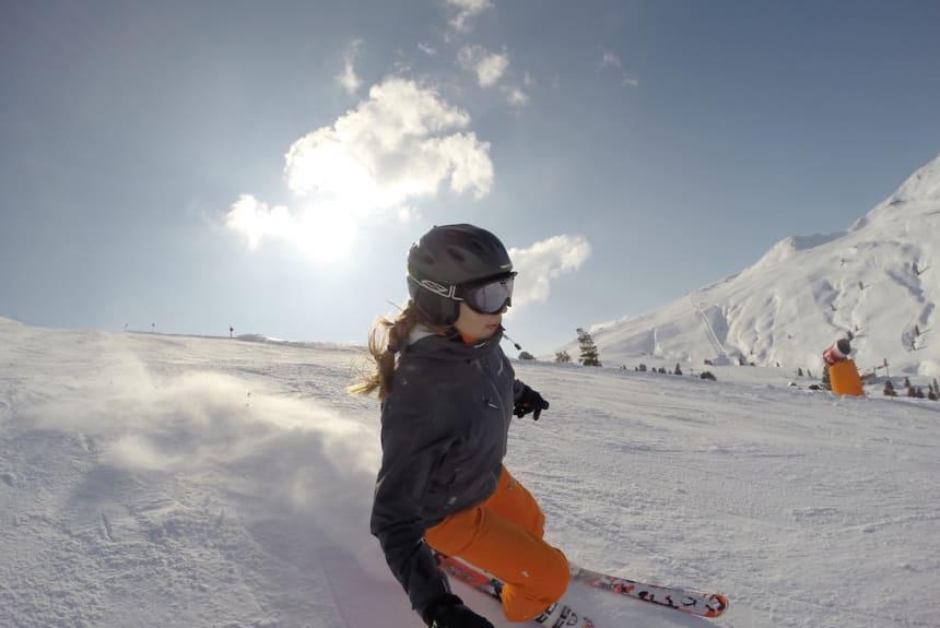 Franziska beim Ski fahren