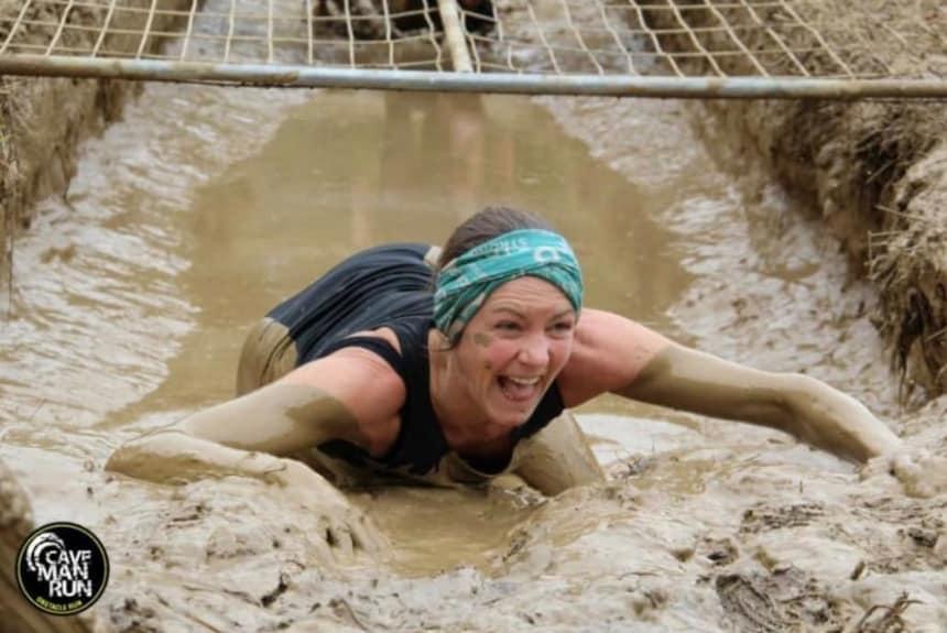 Janine Bayartz beim Cave Man Run