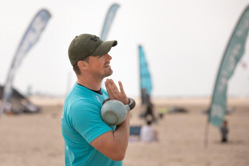 Fitness am Strand bei einer OBC Fitnessbreak
