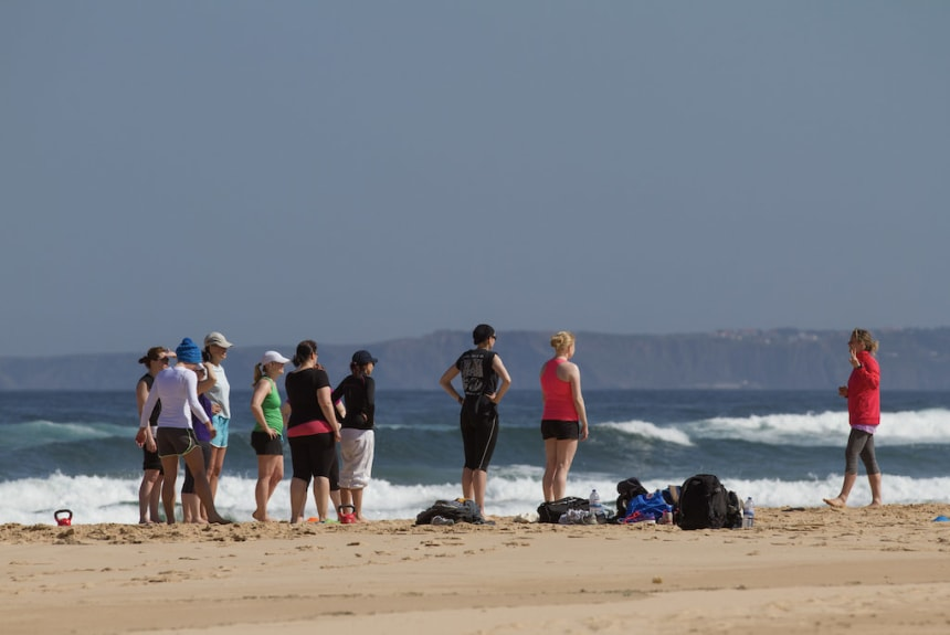 Beach Fitness bei der OBC Portugal Break