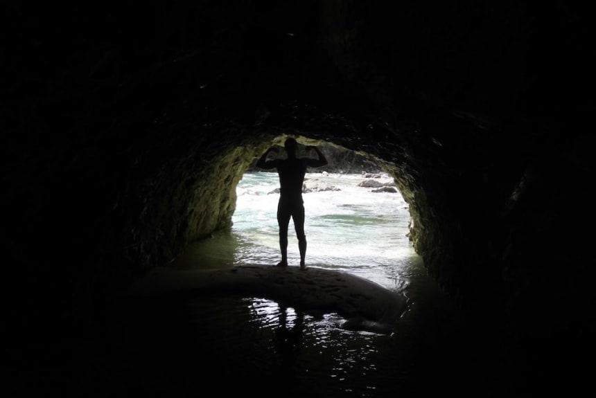 Das Licht am Ende des Tunnels ist Outdoor Fitness mit Timon