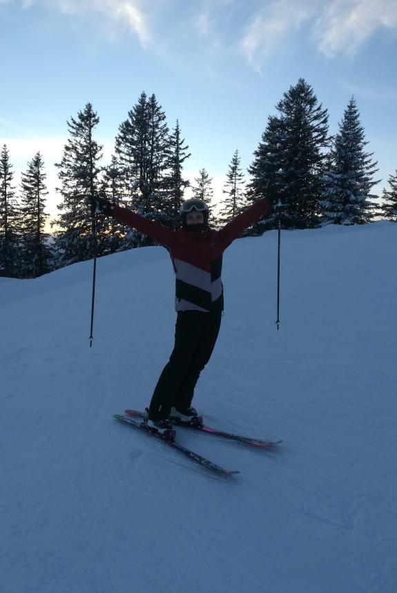 Bianca Schmid beim Ski fahren