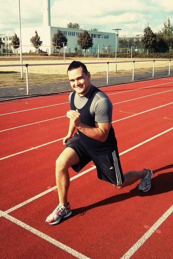 Ein aktiver Personal Trainer