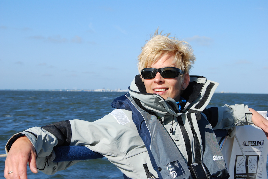 Christine Büchel im Segelurlaub