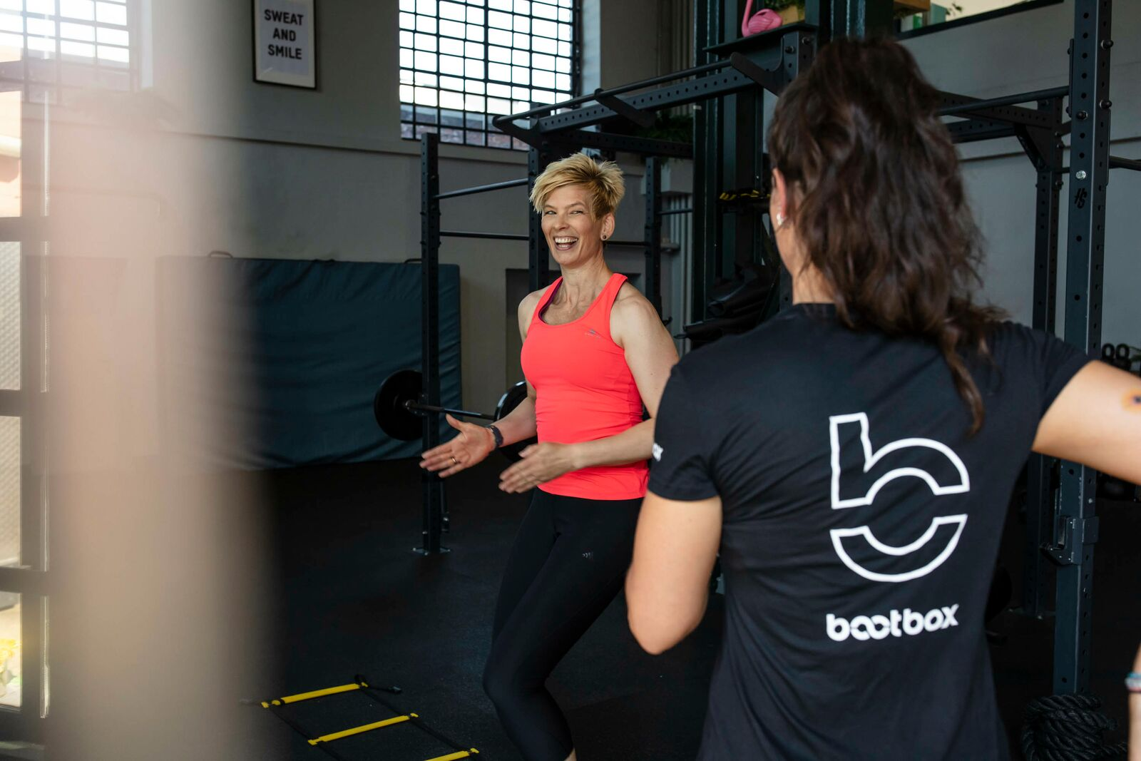 Christine Büchel beim Personal Training