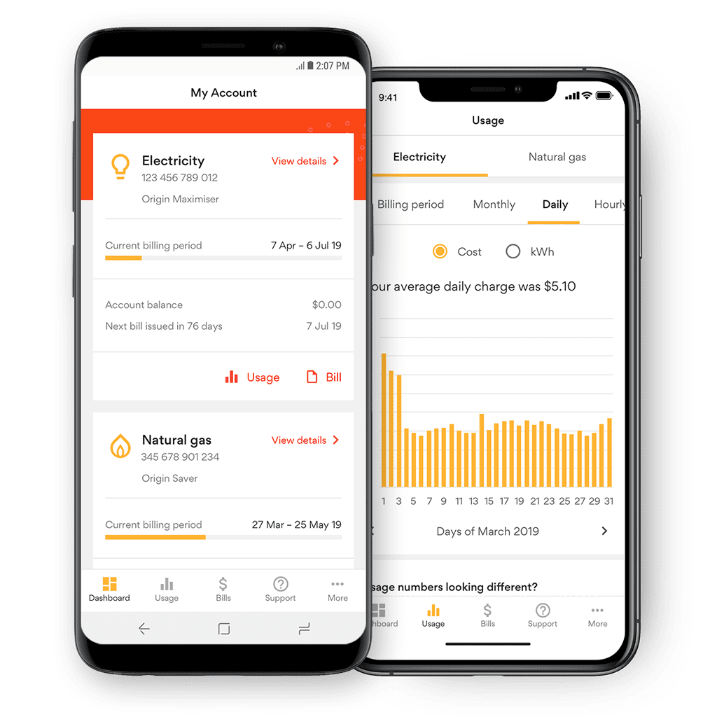 Download for Android or iPhone to manage your energy account on the go
