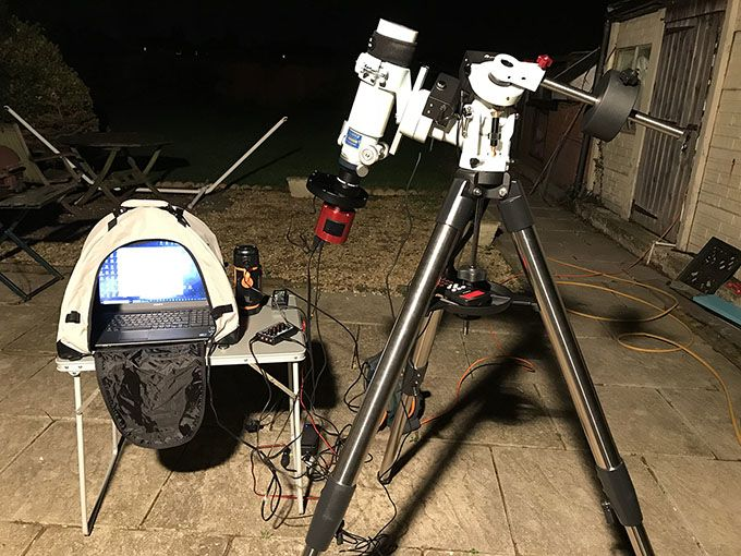Narrowband imaging with FS-60CB