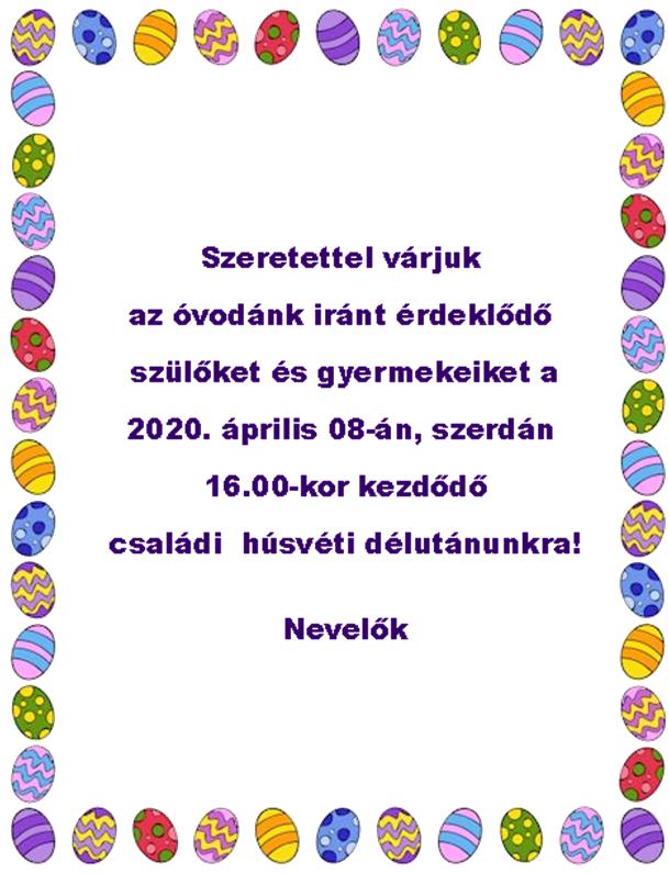 Húsvéti délután 2020. április 8-án! | Örömhír Óvoda - Veszprém