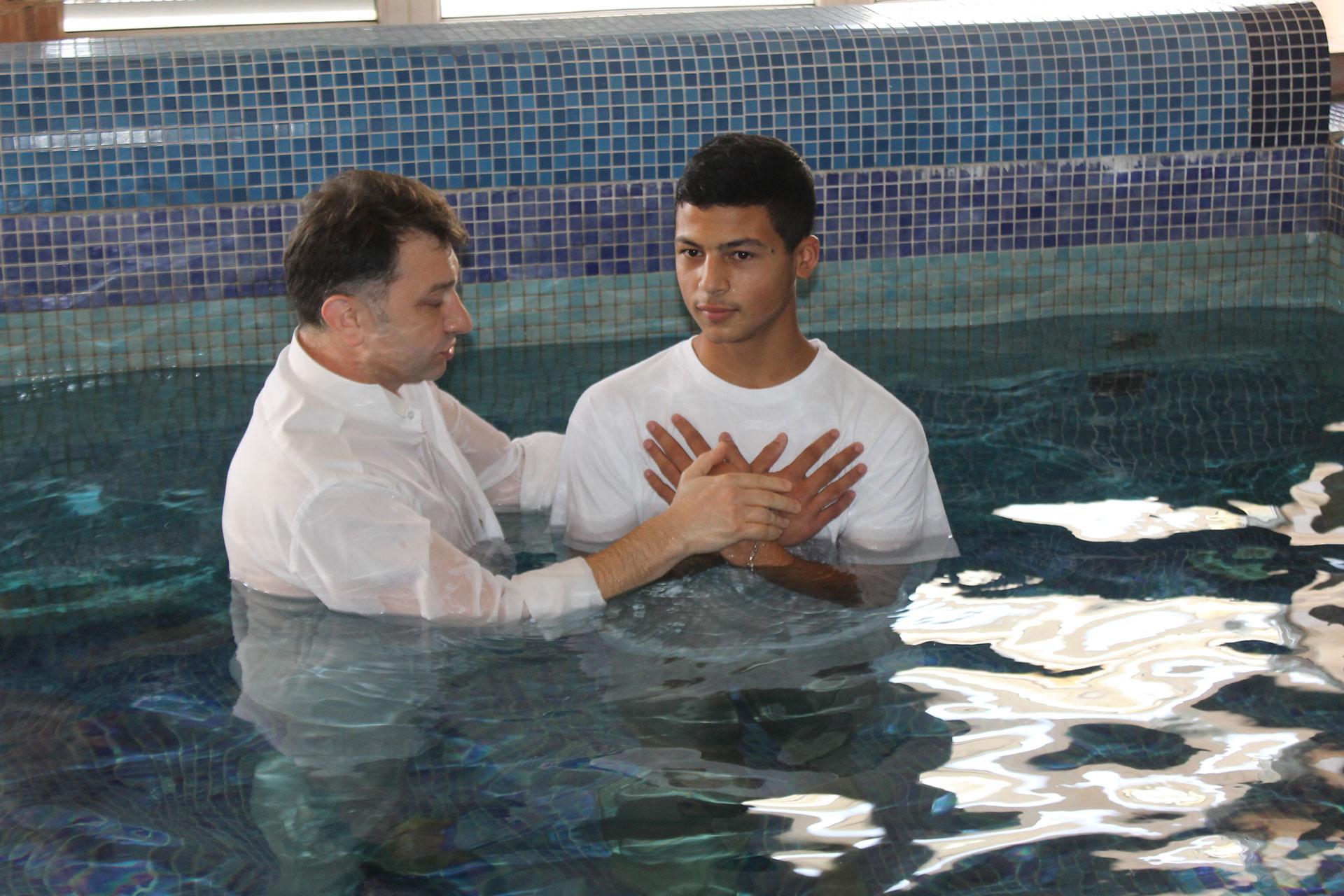 Vitaliy Getting Baptized