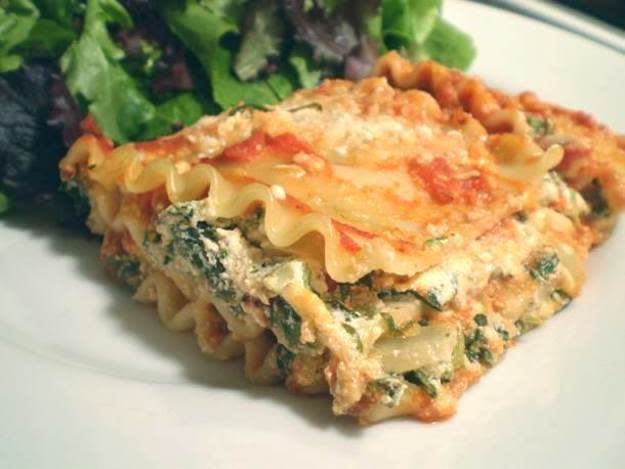 Low Fat Spinach Lasagna With Exchanges