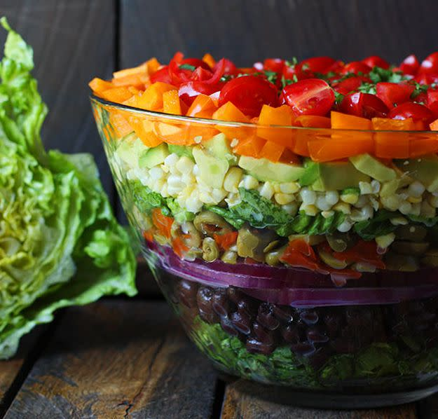 luscious layered salad kosher recipes