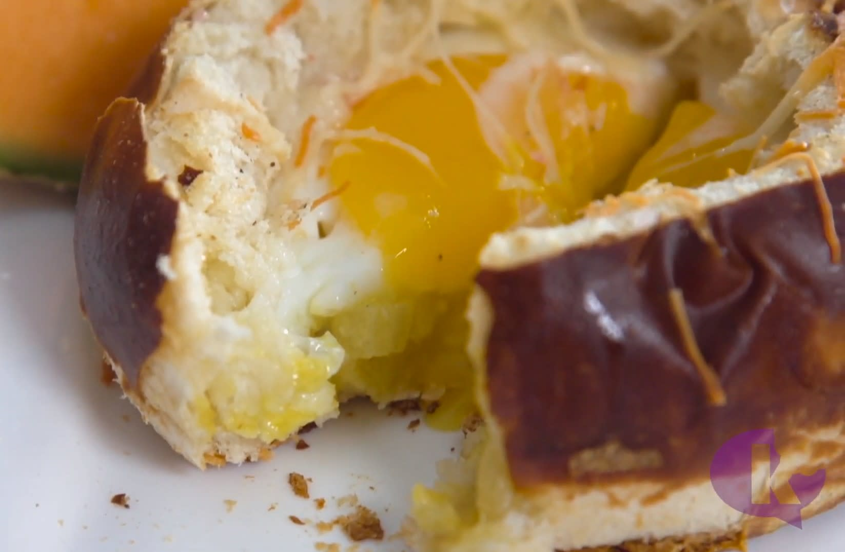 Watch: Sunny-Side Up Pretzel Boats