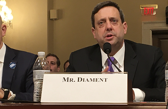 OU's Nathan Diament, testified before the House Committee on Homeland Security