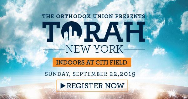Torah New York-September 22!