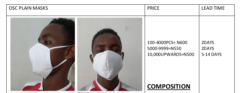 OSC Fashion Mask Catalogue