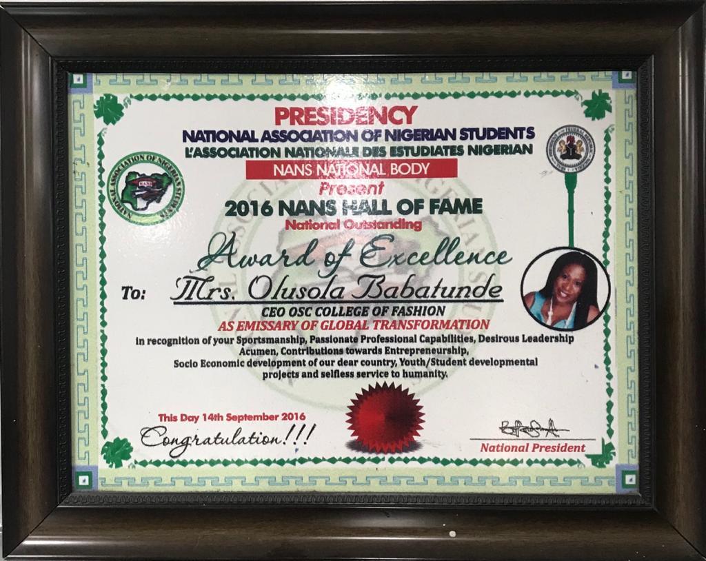 nans excellence award